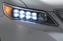 2014 Acura RLX Sedan LED Headlamp Detail